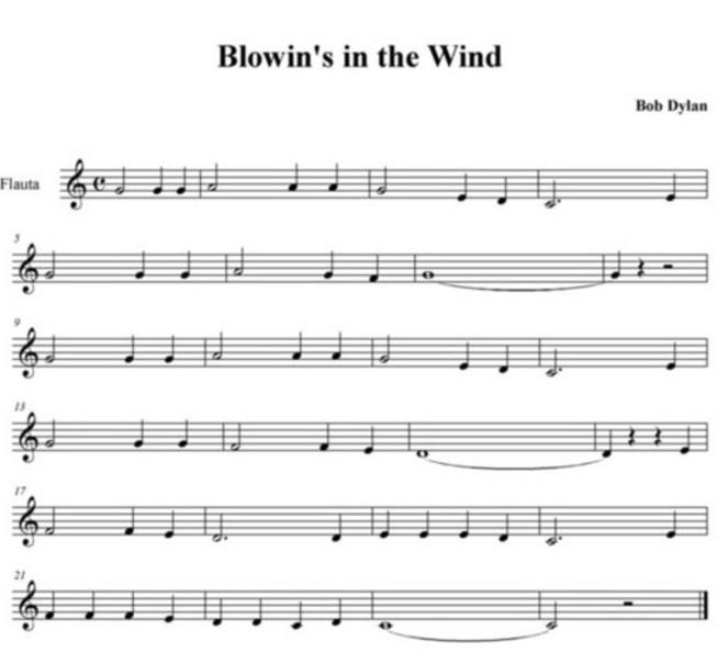 partituras para flauta. Para FLAUTA SOLA. Partitura en