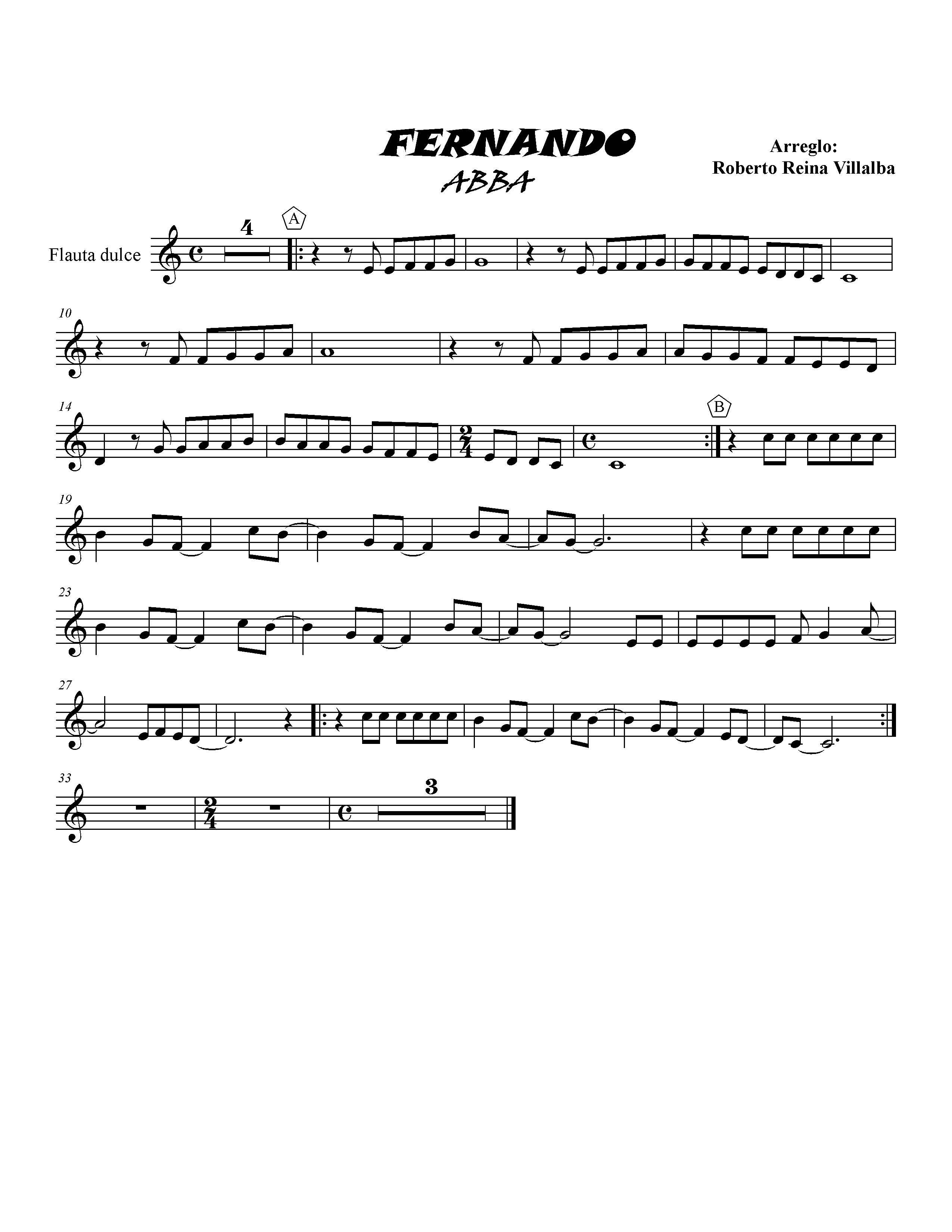 """Partituras ABBA """"Mamma Mia"""" Y """"Fernando"""" (con Los Midis"""