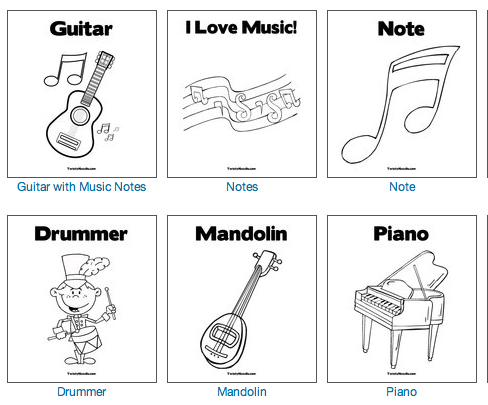 Dibujos Musicales Para Imprimir Y Colorear Recursos Musicales