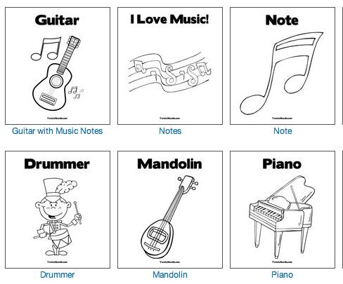 Dibujos Musicales para imprimir y colorear | Recursos Musicales