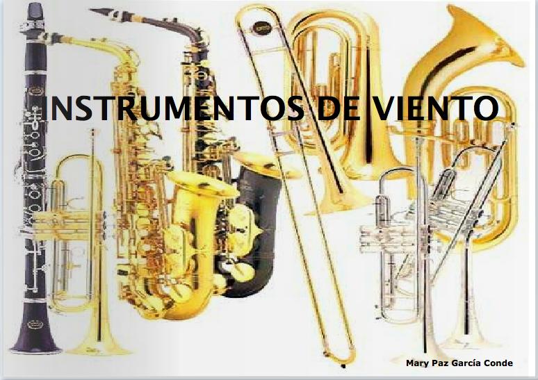 Libro sobre instrumentos vintage de viento de madera